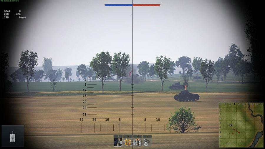 танковый прицел в war thunder