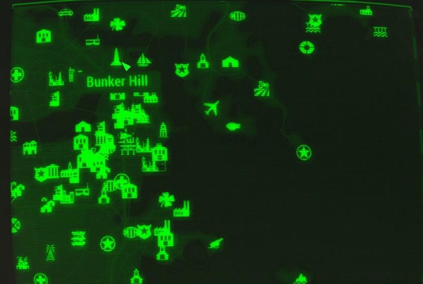 Банкер Хилл на карте Fallout 4