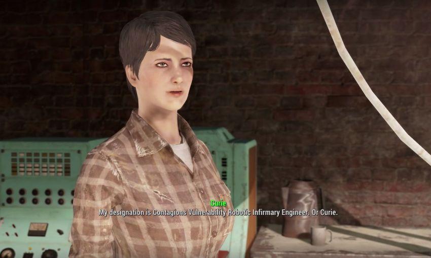 Кюри в Fallout 4 человек