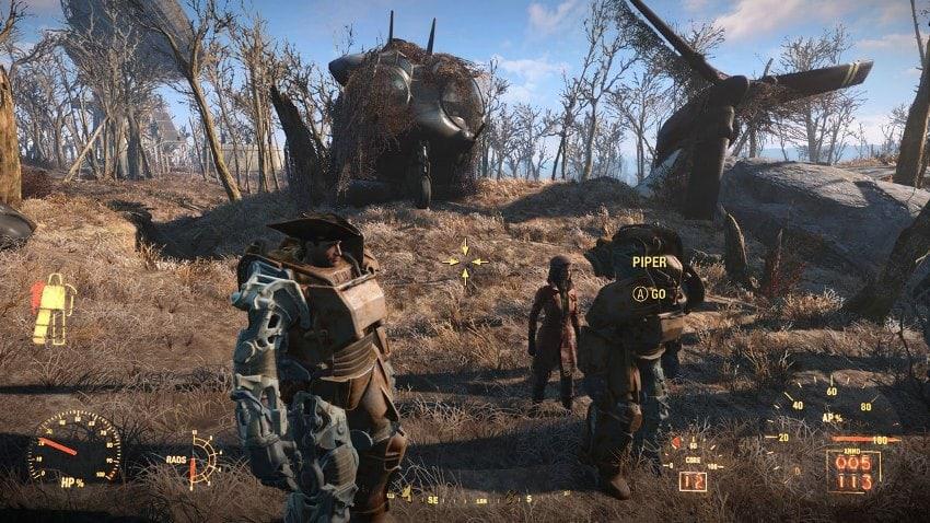 Приказы напарникам в Fallout 4