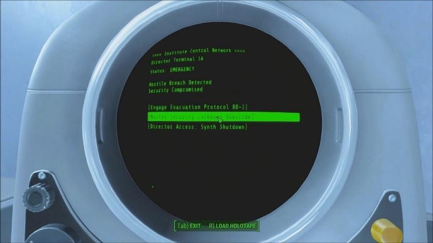 Терминал Шона в Fallout 4