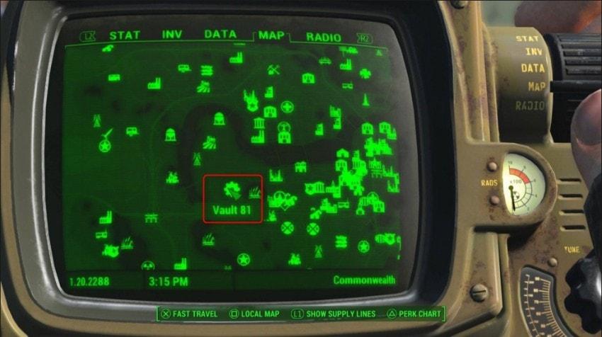Убежище 81 на карте