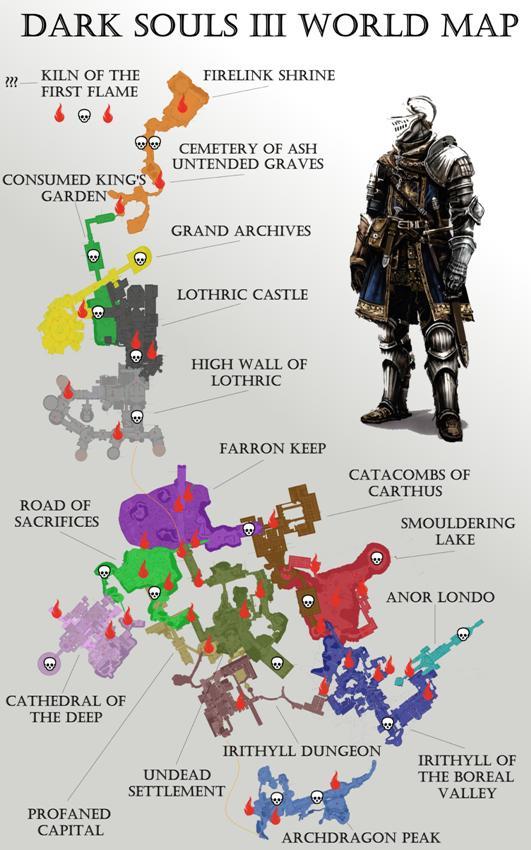 Dark Souls 3 карта локаций-1