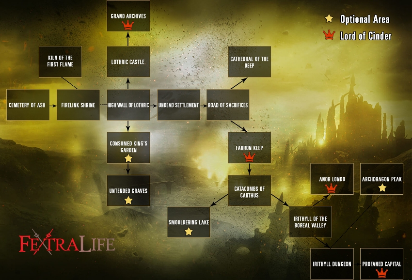 Dark Souls 3 карта мира-2