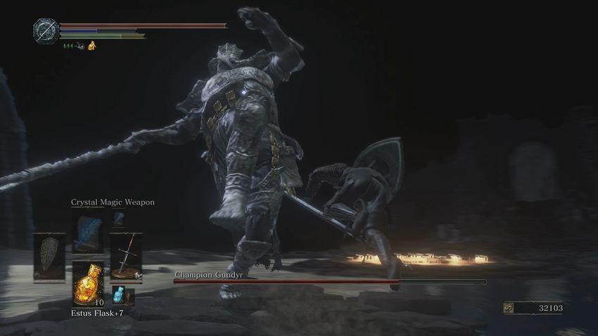 Как сделать удар в прыжке в dark souls 2