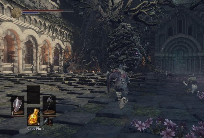 Проклятое великое дерево в Dark Souls 3-3