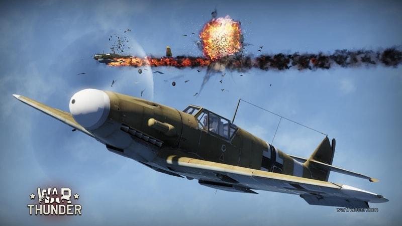 War Thunder: управление самолетом