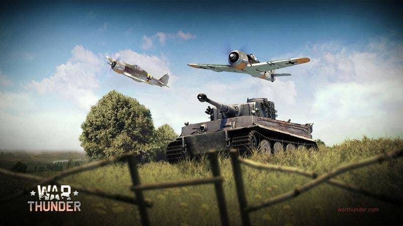 War Thunder: управление танком
