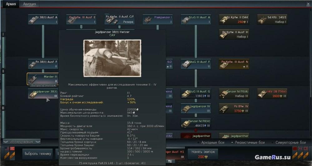 вар тандер обзор немецки танков