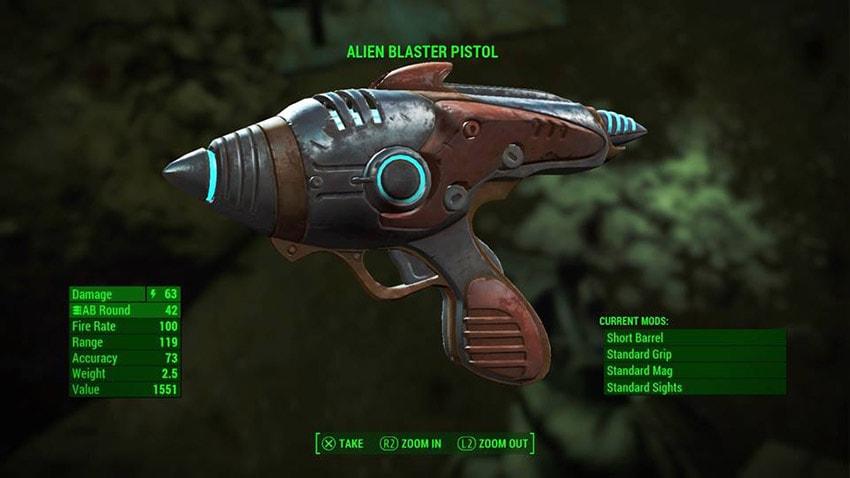 Бластер Чужих в Fallout 4