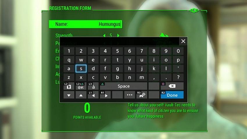 Fallout 4 имя содержит запрещенные символы