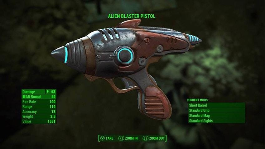 Где найти бластер пришельцев в Fallout 4