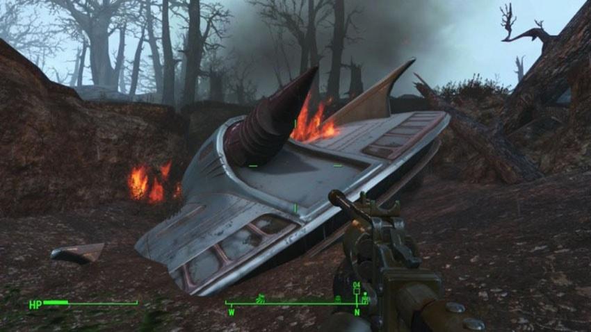 Где найти инопланетян в Fallout 4, место падения НЛО на карте