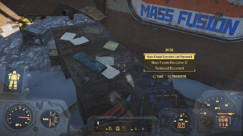 Где пропуск масс фьюжн в Fallout 4