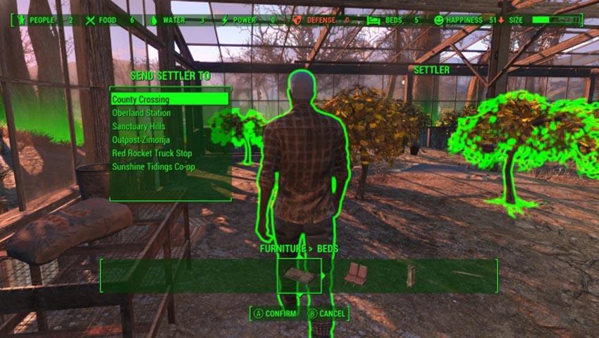 Как назначить рабочего в Fallout 4
