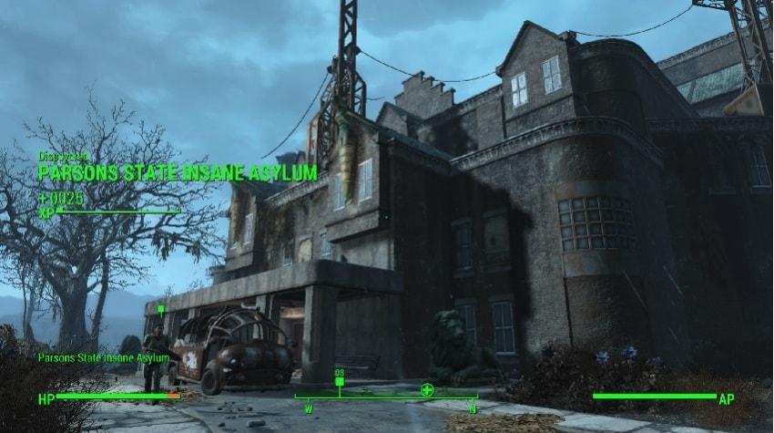 Как попасть в психиатрическую больницу в Fallout 4