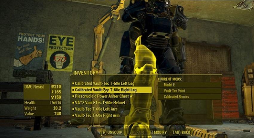 Как ремонтировать силовую броню в Fallout 4