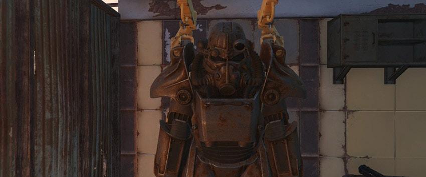 Как выйти из силовой брони в Fallout 4