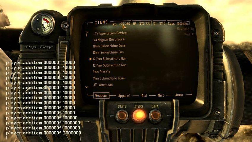 Коды на материалы в Fallout 4