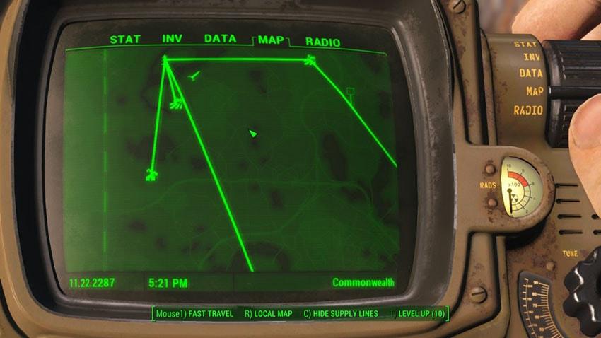 Линии снабжения в Fallout 4
