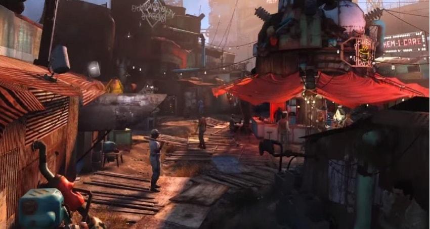 Основная база в Даймонд сити Fallout 4