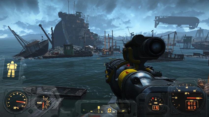 Подводная лодка в Fallout 4