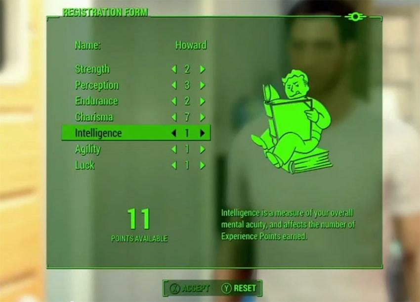 Прокачка персонажа в Fallout 4