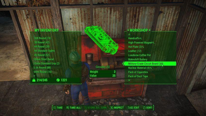Проводка в Fallout 4