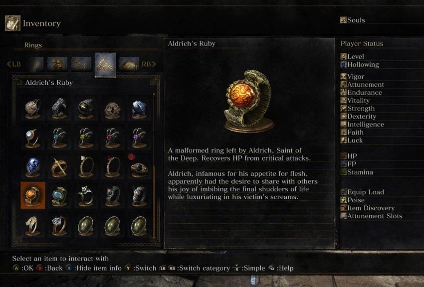 Dark Souls 3 кольца
