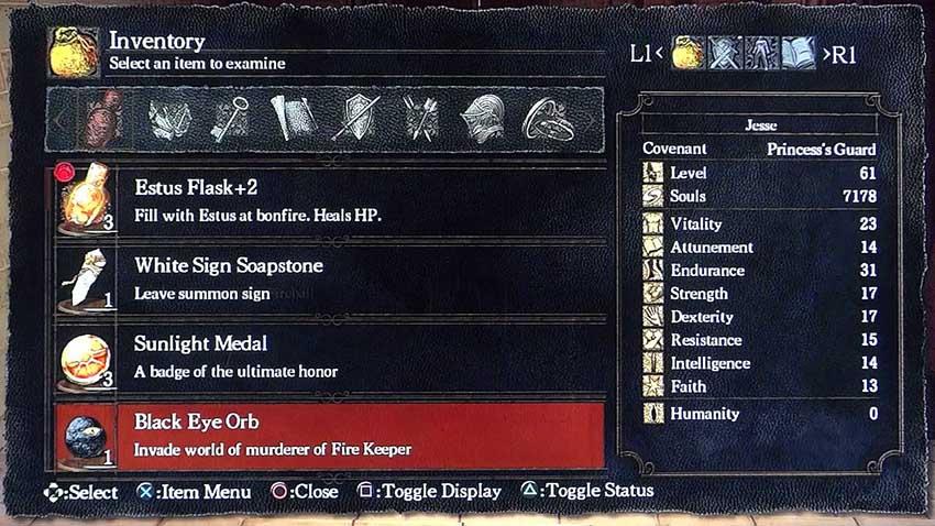 Dark Souls 3 черное око