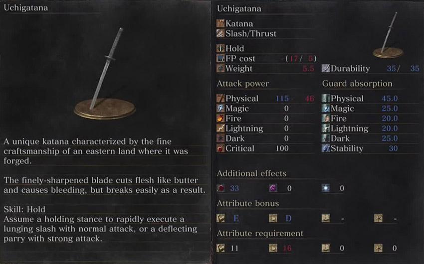 Dark Souls 3 Утигатана