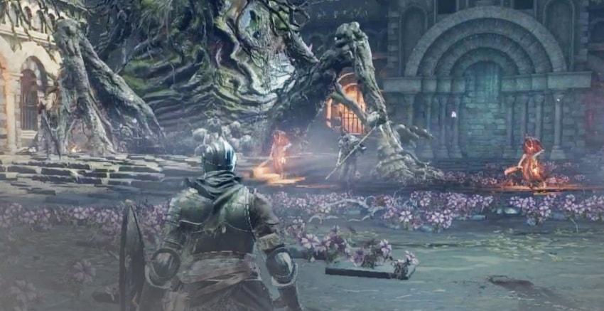 Проклятое великое дерево в Dark Souls 3-2